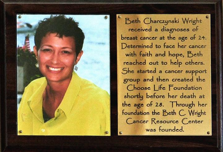 Beth C. Wright Plaque