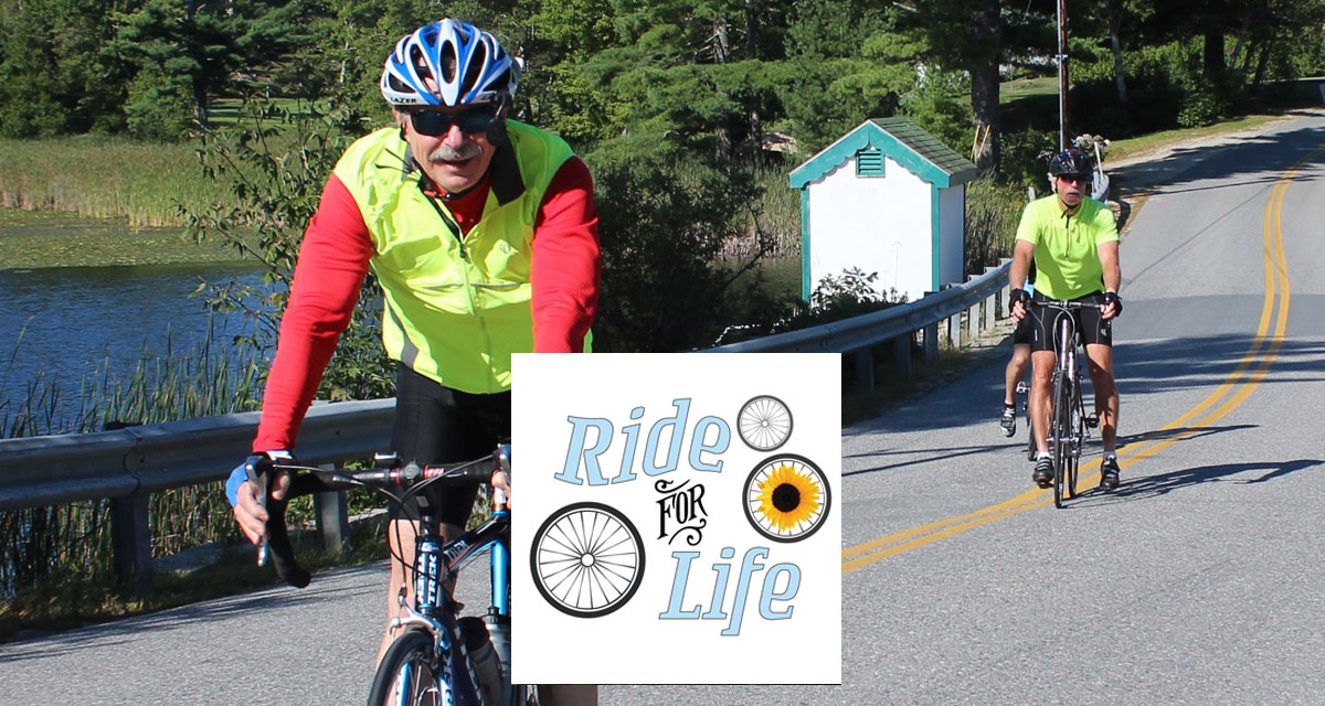 Join us at the 13th Annual Ride for Life, Sept 9th. Register by Sept. 1st for a lobster roll!
