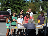 People of all ages participated in the ride, hike and BBQ.