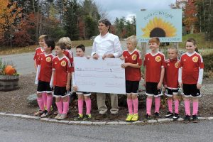 The Acadia Fire F. C. raised $400 through their Pink Sock Pledge during October.