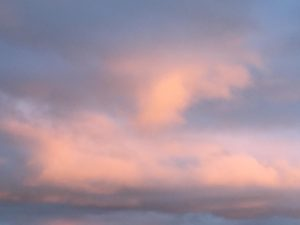 Peaceful pink and blue clouds