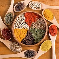 Different Spices in Circle