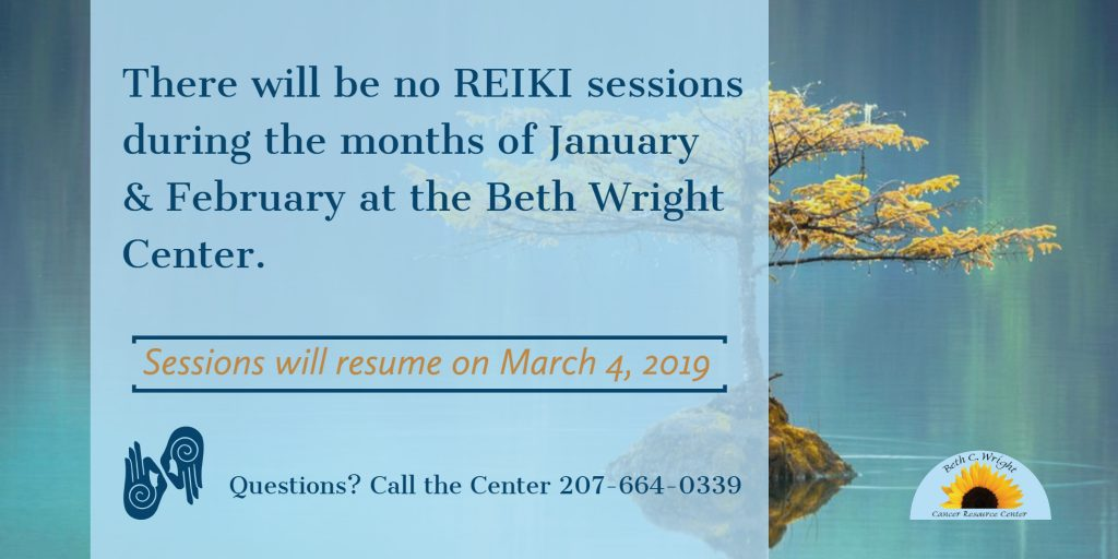 Schedule Changes to Reiki in Jan and Feb