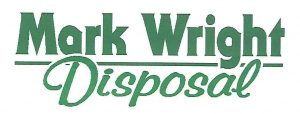 Mark Wright Disposal logo green letters